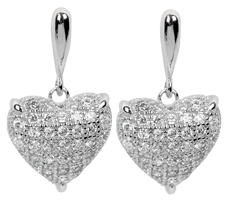 Silver Cat Stříbrné náušnice s krystaly SC006