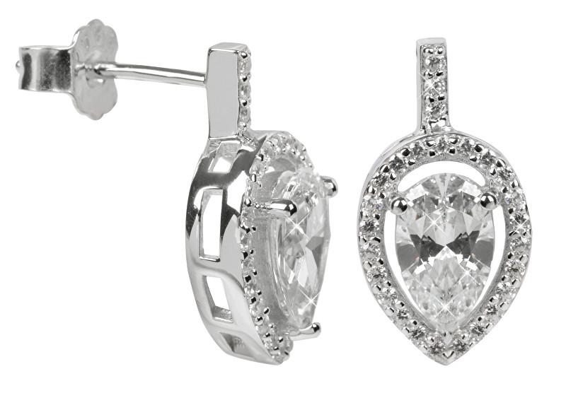Silver Cat Stříbrné náušnice s krystaly SC072