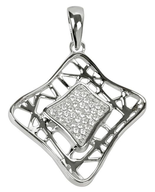 Silver Cat Stříbrný přívěsek s krystaly SC017