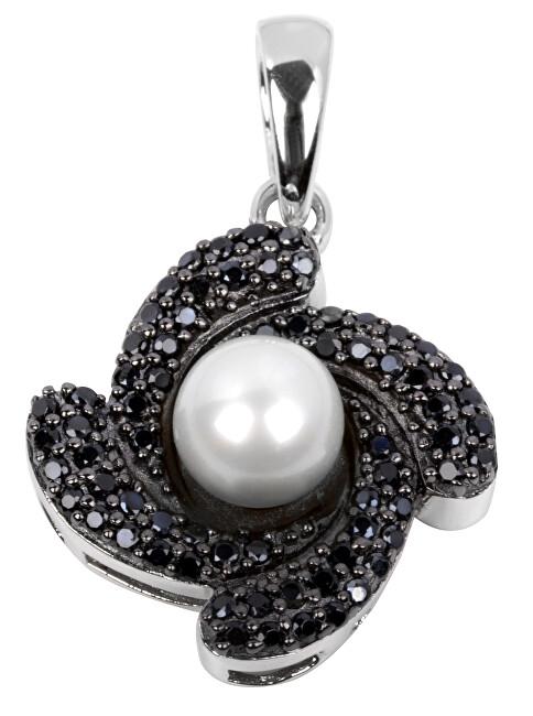 Silver Cat Stříbrný přívěsek s krystaly SC062