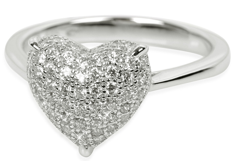 Silver Cat Stříbrný prsten s krystaly SC004 54 mm