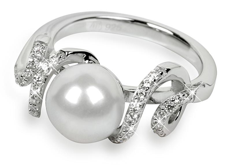 Silver Cat Stříbrný prsten s krystaly SC028 56 mm