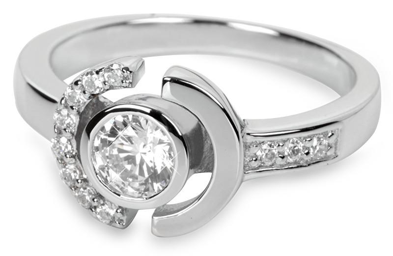 Silver Cat Stříbrný prsten s krystaly SC079 54 mm