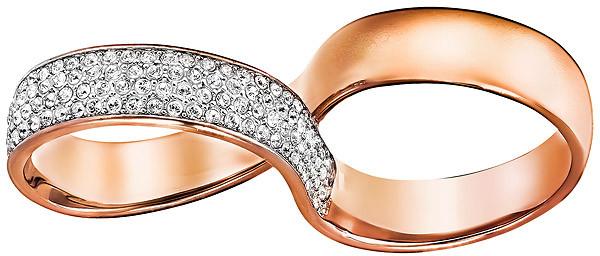 Swarovski Dvojitý prsteň 5221588 52 mm