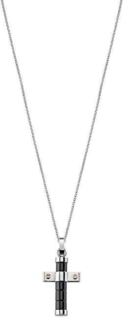Sector Jewels Pánský ocelový náhrdelník Křížek SZQ15
