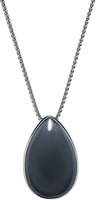 Skagen Dámský ocelový náhrdelník s masivním přívěskem SKJ0668040