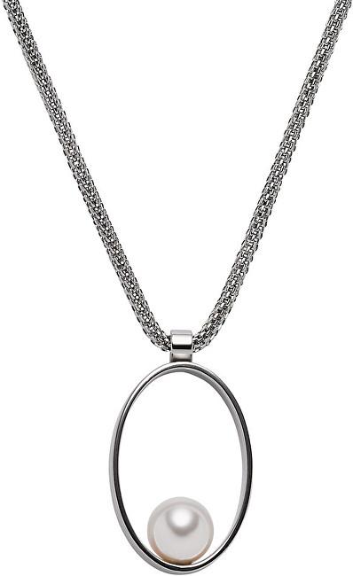 Skagen Dámský ocelový náhrdelník s perlou SKJ0766040