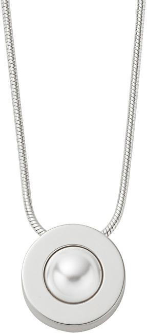 Skagen Dámský ocelový náhrdelník s perlou SKJ0792040