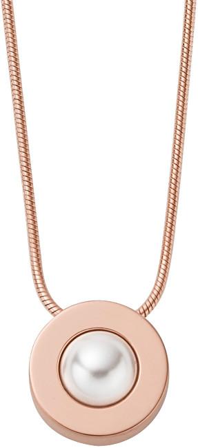 Skagen Dámský ocelový náhrdelník s perlou SKJ0802791