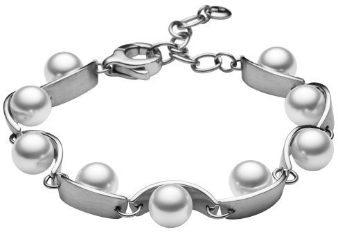 Skagen Dámský ocelový náramek s perličkami SKJ0761040