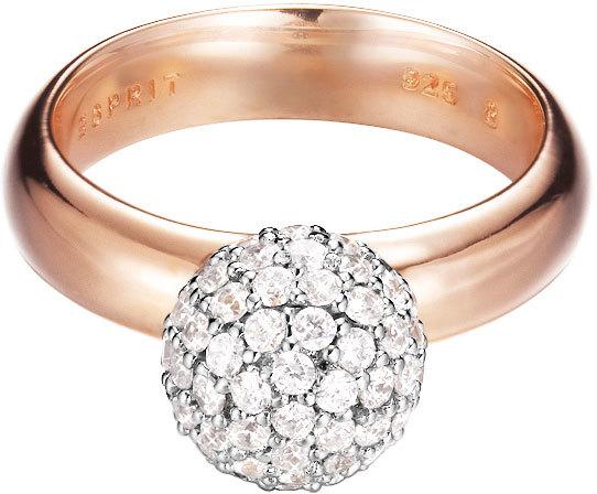 Esprit Prsteň ES-Glam Sphere Rose ESRG92309B - ZĽAVA