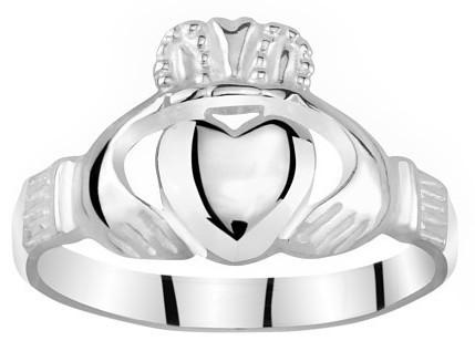 Silvego Dámsky Celostříbrný prsteň Claddagh ZTR96391 48 mm