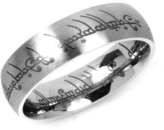 Silvego Ocelový prsten moci z Pána prstenů RRC2010 50 mm