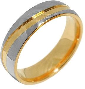 Fotografie Silvego Snubní ocelový prsten pro muže a ženy MARIAGE RRC2050-M 53 mm