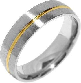 Silvego Snubný oceľový prsteň pre mužov PARIS RRC2048-M 60 mm