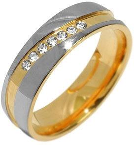 Silvego Snubní ocelový prsten pro ženy MARIAGE RRC2050-Z 58 mm