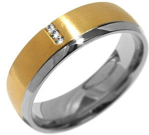 Silvego Snubní ocelový prsten pro ženy VIENNE RRC2046-Z 57 mm