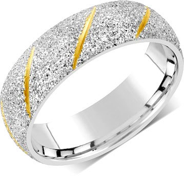Silvego Snubní prsten pro muže i ženy z oceli RRC22799 49 mm