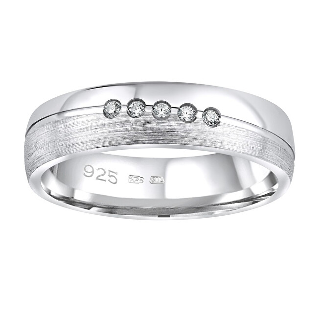 Silvego Snubný strieborný prsteň Presley pre ženy QRZLP012W 47 mm
