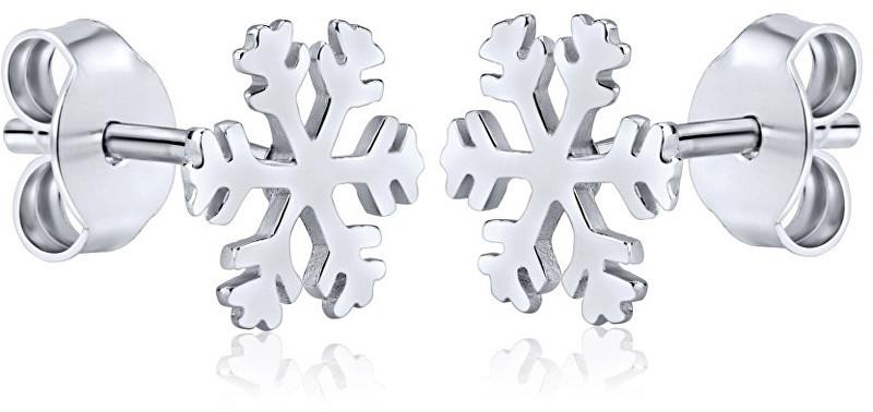 Silvego Stříbrné náušnice Sněhové vločky ZTJE52502