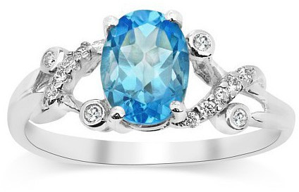 Silvego Stříbrný decentní prsten s topazem Gio Caratti JJJBR24 53 mm