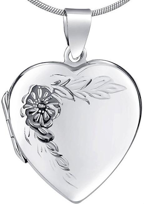 Silvego Stříbrný medailon Srdíčko PRML10248