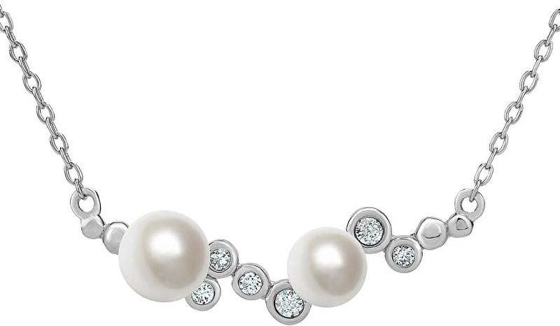 07d9c4aa8 Silvego Stříbrný perlový náhrdelník ILUMIA JJJN0972