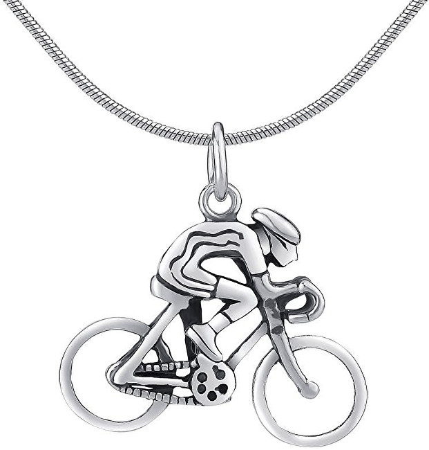 Silvego Stříbrný přívěsek Cyklista PRMP14191