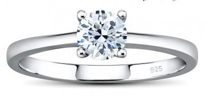Silvego Stříbrný prsten MADISON se Swarovski Zirconia JJJR2339sw 48 mm