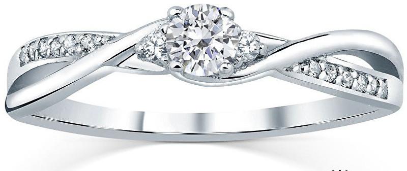 1905e4b6b Silvego Stříbrný prsten s krystaly Swarovski FNJR085sw 52 mm