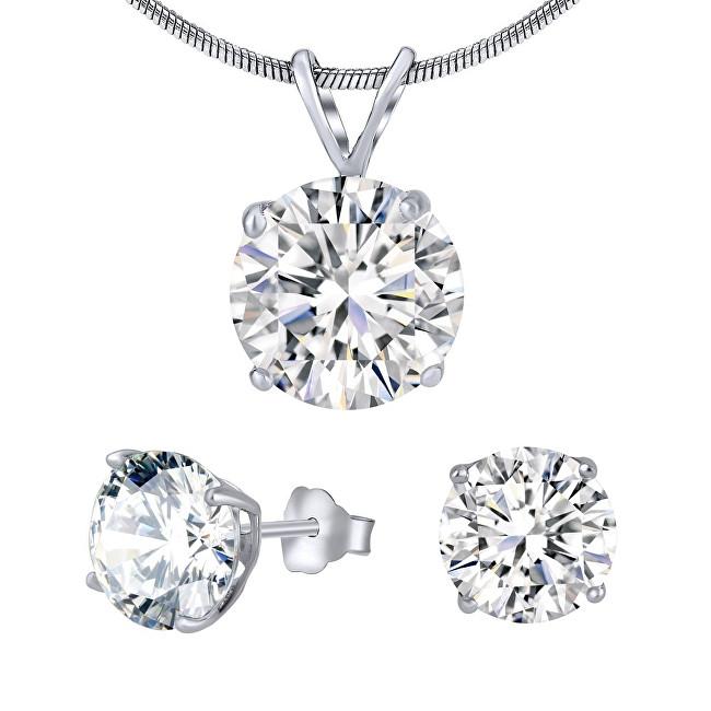 37cb6991b Silvego Strieborný set šperkov s čírym krištáľom JJJS5RC1