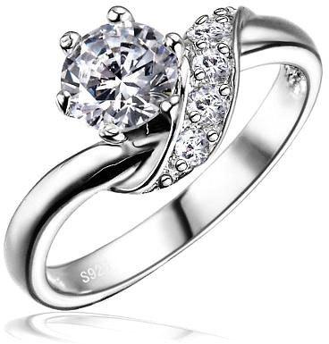 Silvego Stříbrný zásnubní prsten SHZR234 53 mm