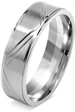 Silvego Snubný prsteň pre mužov a ženy z chirurgickej ocele RRC0465 51 mm