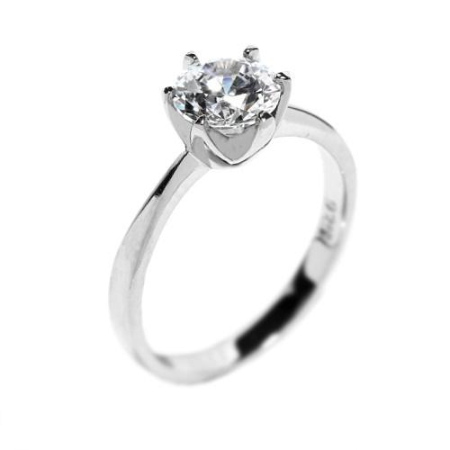 Silvego stříbrný prsten se Swarovski Zirkony 7 mm EWER02987