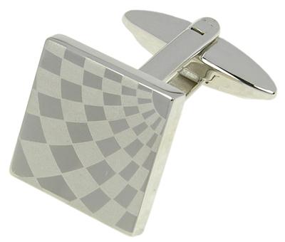Starck Schmuck Manžetové knoflíčky Šachovnice 40.383R2