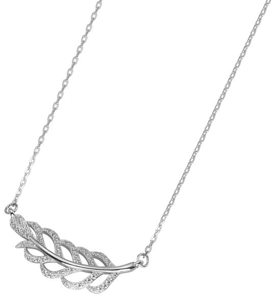 Selilya Silver Stříbrný náhrdelník s krystaly SNJ11