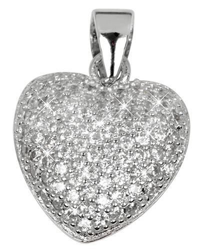 Selilya Silver Stříbrný přívěsek srdce SPJ16