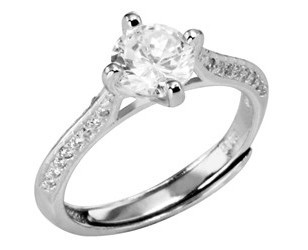 Selilya Silver Stříbrný prsten s krystaly SRJ62