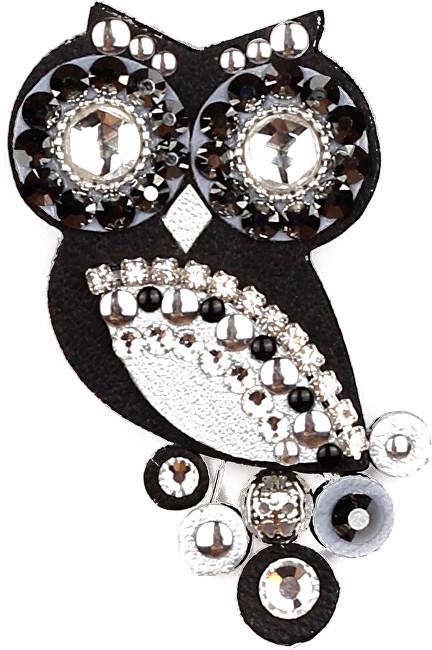 Brož Sovičky Malá soví černá stříbrná černá fauna 8482224527