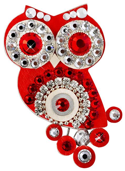 Sovičky Malá soví brož červená II. SV0046