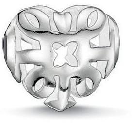 Thomas Sabo Stříbrný korálek Filigránové srdce K0133-001-12