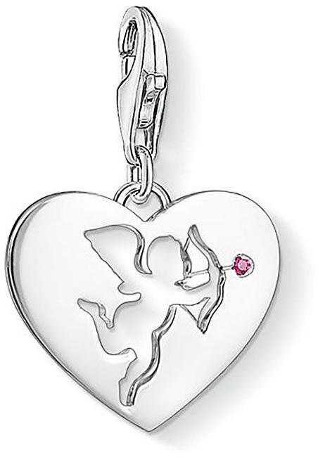 Thomas Sabo Stříbrný přívěsek Amorovo srdce 1382-011-10