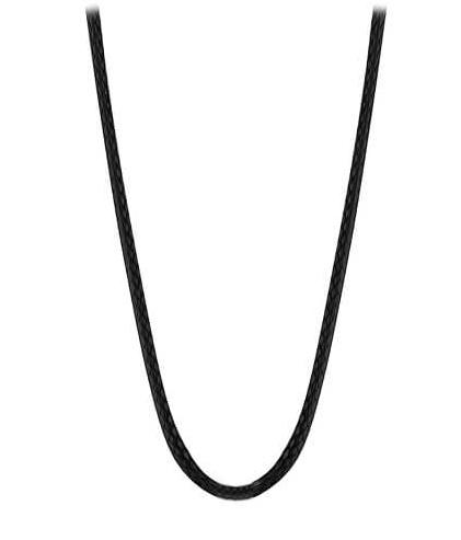 MUMMY BELL-Těhotenská rolnička Lanko z černé kůže - 76 cm R1CK