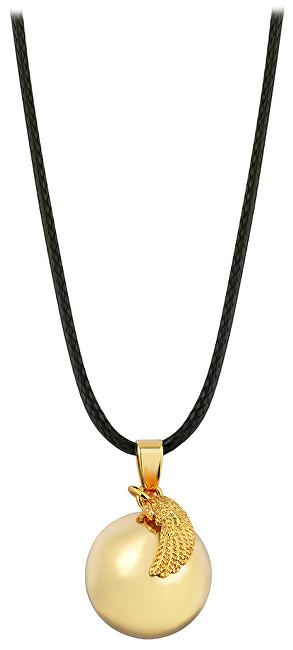 Těhotenská rolnička Pozlacený náhrdelník Rolnička andělské křídlo EZ20