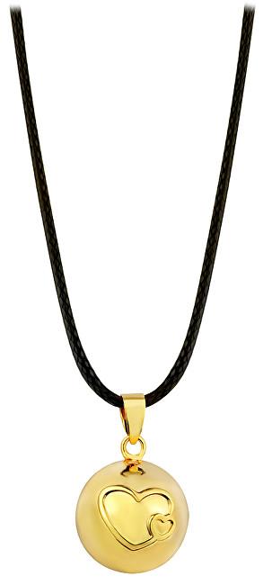 Těhotenská rolnička Pozlacený náhrdelník Rolnička srdíčka BZ20