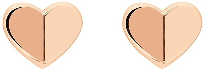 Tommy Hilfiger Bronzové náušnice Srdce TH2780301