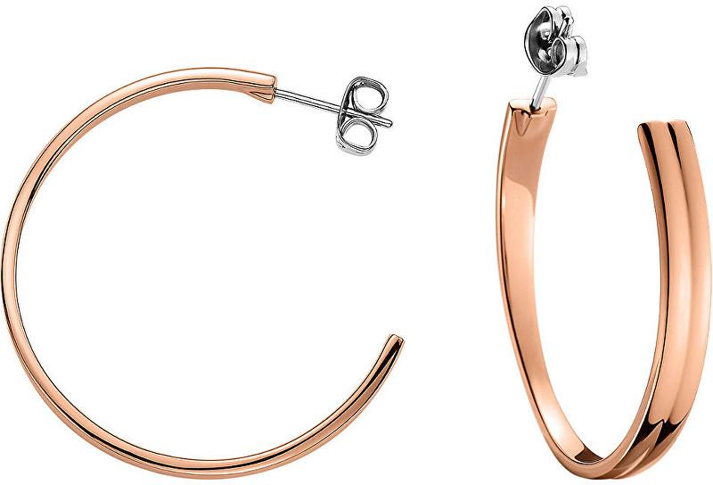 Tommy Hilfiger Bronzové ocelové náušnice kruhy TH2700731