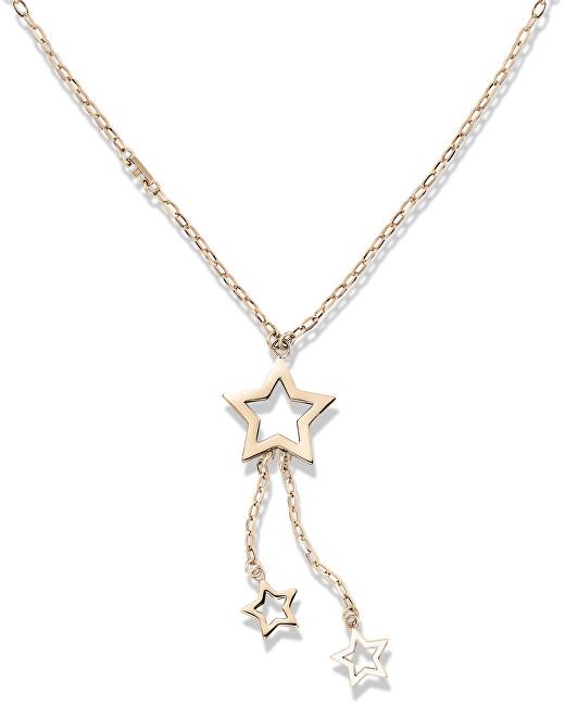 Tommy Hilfiger Bronzový náhrdelník s hvězdičkami TH2700849