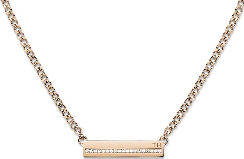 Tommy Hilfiger Bronzový náhrdelník s krystaly TH2700920