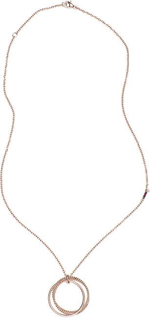 Tommy Hilfiger Bronzový náhrdelník s přívěskem TH2700607